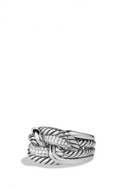 David Yurman 'Labyrinth' Ring with Diamonds available at #Nordstrom: David Yurman, Labyrinth Ring, Diamonds, Yurman Labyrinth, Jewelry, Women'S Rings, Products, Labyrinths, Engagement Rings