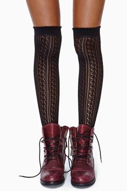 Delilah Knee High Socks: Combat Boot, Delilah Knee, Knee Socks, Knee Highs, Accessories, Knee High Socks, Black Knees