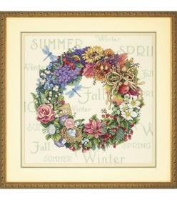 Dimensions Counted Cross Stitch Kit-Wreath of All Seasons at Joann.com: Cross Stitch Kits, Craft, Counted Cross Stitches, Seasons, Crossstitch, Dimensions, Crosses, Wreaths, Stitch Patterns