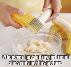 Don't ever piss off your girlfriend…: Bananaslicer, Kitchen Gadgets, Idea, Stuff, Funny, Things, Products