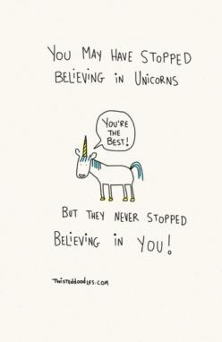 Dont worry, be happy: Unicorn Quote, Funny Motivational Quotes, Twisteddoodles, Cute Unicorn, Random, Stopped Believing, Cute Quote, Unicorns