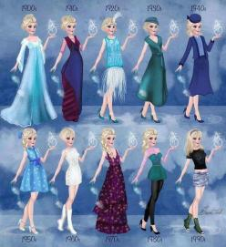 Elsa in 20th century fashion by BasakTinli: Disney Stuff, Disney Princesses, Disney Pixar, 20Th Century, Elsa, Century Fashion, Princess Fashion
