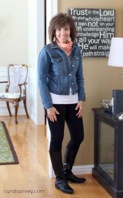 Fashion For Women Over 40-What I Wore: Outfits For Over 40 Women, Fall Outfits For Women Over 40, Wore Fashion, Style, Denim Jacket Outfit, 40 What, Fall Outfits Women Over 40, Fashion Over 50 Women Outfits, Christmas Gift