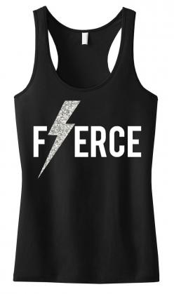 FIERCE Glitter Lightning #Workout #Tank Top -- By #NobullWomanApparel, for only $24.99! Click here to buy http://nobullwoman-apparel.com/collections/fitness-tanks-workout-shirts/products/fierce-glitter-lightning-tank-top: Workout Shirts, Tank Tops, Black