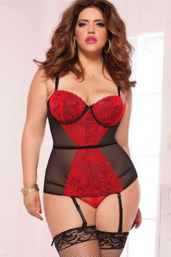 Flaunt your bombshell curves in this figure flattering #bustier, available in sizes small to 4X.: Lace, Thong, Sweets, Sexy Lingerie, Bustiers, Belt, Size