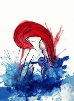 For kat have her birth day on   it: Tattoo Ideas, Little Mermaids, Mermaid Tattoo, Ariel, Watercolors, Art, Water Color, Disney