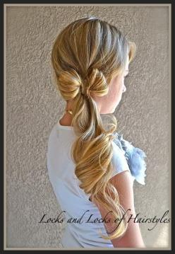 For perfectly tousled waves, curl your hair with a wand before bed. When you wake up you'll have amazing bedhead and perfect, loose waves.: Pony Tail, Hairstyles, Hair Styles, Makeup, Side Ponytail, Hair Bows, Clothes Line
