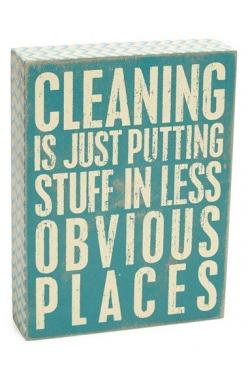 Free shipping and returns on PRIMITIVES BY KATHY 'Cleaning' Box Sign at Nordstrom.com. A rustic box sign stamped with a witty yet honest housekeeping slogan adds a homey touch to any space.: Box Sign, Sign Hoarding, Gift Ideas, Kathy Cleaning, Nor