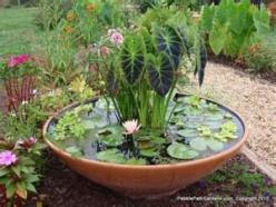 free standing garden: Ponds, Garden Ideas, Container Water Gardens, Water Features, Gardening Ideas, Outdoor, Watergardens, Garden, Container Gardening