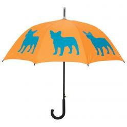 French Bulldog Umbrella ~ Identify yourself and your favorite dog breed with this beautiful rain umbrella featuring a French Bulldog silhouette image. Take this stylish umbrella with you to the park, on walks, on errands … wherever it's raining, this umbr