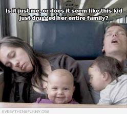 funny caption is it just me or does it look like this kid drugged whole family: Babies, Funny Picture, Funny Stuff, Humor, Funnies, Smile, Kid