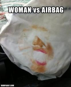 Funny Pictures – 27 Pics: Too Much Makeup, Airbag, Face, Giggle, Girl, Funny Stuff, Humor, Funnies