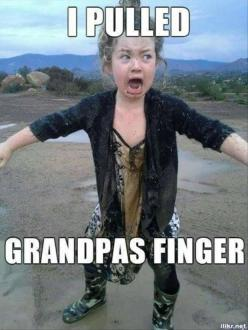 Funny Pictures Of The Day - 57 Pics - more funny things: www.funnyroar.com: Funny Things, Grandpas Finger, Pulled Grandpa S, Fingers, Funny Stuff, Humor, Funnies, Grandpa S Finger