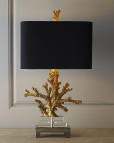 Gold Coral Lamp - Horchow: Lamps, Decor, Gold Coral, Ideas, Lighting, Neiman Marcus, Design