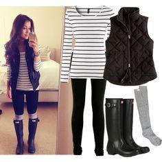 Great Autumn postpartum look: poncho. button-up shirt, leggings and boots!: Hunter Boots, Rain Boots, Style, Fall Outfits, Rainy Day Outfits, Fall Fashion, Fall Winter, Rainy Days