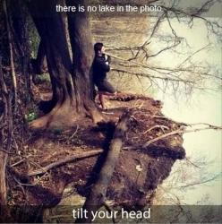 Ha! That's funny.: Picture, Optical Illusions, Stuff, Awesome, Lakes, Random, Funny, Things, Photography
