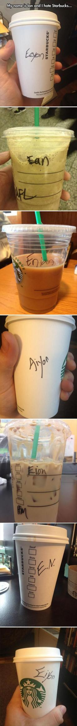 hahahahaha.: Giggle, Hate Starbucks, Funny Pics, Poor Ian, Funny Pictures, Funny Quotes, Poor Guy