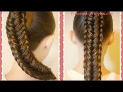 Hairstyles For Girls - Hair Styles - Braiding - Princess Hairstyles: Hair Styles, Braid Hair Tutorials, Edge Fishtail, Fishtail Braid Tutorial, Princess Hairstyles, Fishtail Braids