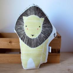 Handmade Lion Pillow - Will Ship After August 5th: Baby Lions, Toy Cushion, Baby Toys, Handmade Lion, Animal Babies, Stuffed Animal, Pillows