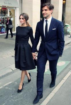 Her Dress!!: Fashion, Blue Suits, Dresses, Couple Style, Outfit, Olivia Palermo, Black Dress, Darling