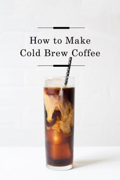 How to make Cold Brew /: Foodie, Stuff, Drank, Brew Coffee, Coffee Recipe, Cocktails, Cold Brew