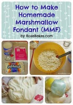How to Make Homemade Marshmallow Fondant Tutorial Step-by-Step Instructions ~ The post includes notes (just below here) that are important, then the step-by-step photo tutorial for making the fondant, then a FAQ section at the bottom!: Easy Fondant Cake,