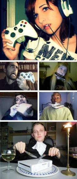 """I really don't know how people take these """"sexy"""" photos. I know that if I tried, I end up laughing hysterically and look like all the other people in this pin.: Picture, Gamergirl, Gamer Girls, Funny Stuff, Humor, Video Games, Funnies"""