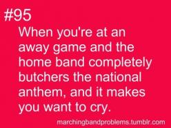 "I tell my bandies, ""Some people know absolutely nothing about music. However, everyone knows when the national anthem is wrong. PLAY IT RIGHT!!!"": Band Probs, Funny, Play, Band Life, Band Problems, Band Nerds, Band Geeks, Marching Bands"