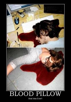I would pull so many pranks with this!: Ideas, Bloodpillow, Awesome, Blood Pillow, Random, Funny Stuff, Things, Pillows