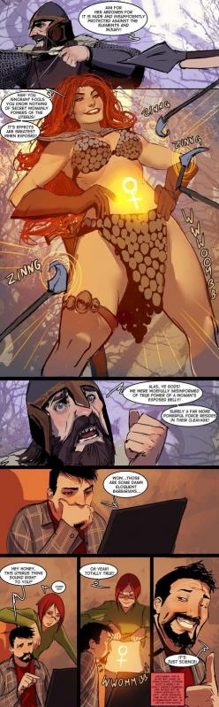 I would SO get this as a tattoo!:D: Skimpy Armor, Comic, Fantasy Art, Armors, Funny, Art Wear, Stjepan Sejic