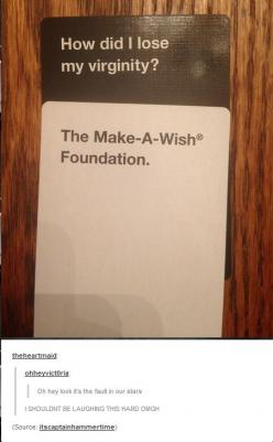 I wouldn't have gotten this if I hadn't just read that and made it my new favorite book.: Augustus Waters, Funny Cards Against Humanity, Bubble Things, Comments Lol, Cards Against Humanity Funny, Comment Tho, Book, Tumblr Posts, Virginity Funny