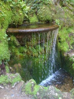 Image Detail for - Small water feature - Gardens of Powerscourt: Garden Waterfall, Idea, Waterfeatures, Ireland, Waterfalls, Water Features, Gardens, Water Garden