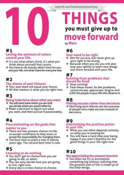 INFOGRAPHIC: 10 Things You Must Give Up To Move Forward #interesting #infographics #charts #Social #Media #Interesting #Infographic #Graphics: Move Forward, Inspiration, Life, Quotes, Moveforward, Thought, 10 Things, Moving Forward, 10Things