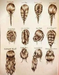 Interesting and Easy Hair Styles: Hair Ideas, Hairstyles, Hair Styles, Makeup, Braids, Beauty