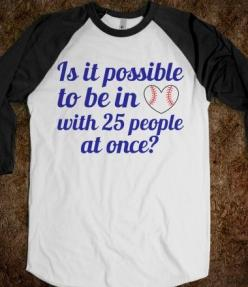 Is it possible to be in love with 25 people at once? But not on the same team? Cuz I like players from so many teams, rarely a whole team anymore  #baseball #mlb: Skreened, Tshirts, Style, Clothes, Baseball, Dream Closet, Things, T Shirts