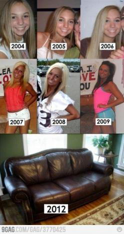 It's amazing how much a girl can change in a few years!: Tanning Bed, Giggle, Girl, Leather Couch, Funny Stuff, Funnies, Humor