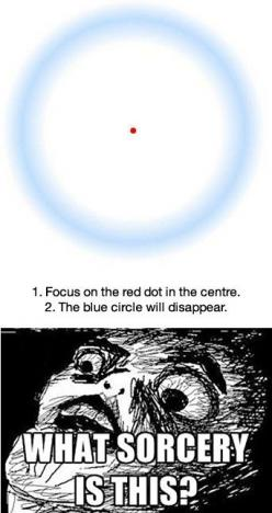 It seriously works!!  You just have to stare at it long and hard like you want to kill it.: Mind Blown, Optical Illusions, Didn T Work, Mindblown, Red Dots, It Works, Eye
