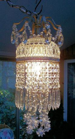 Jeweled Vintage Crystal Waterfall Chandelier by sheriscrystals, A Perfect addition for my Garden Cottage~ ;): Lighting Chandeliers, Crystal Chandeliers, Lamps Lighting Mirrors, Chimes Chandeliers Lamps, Chandeliers Lighting Lamps, Antique Lamps Chandellie