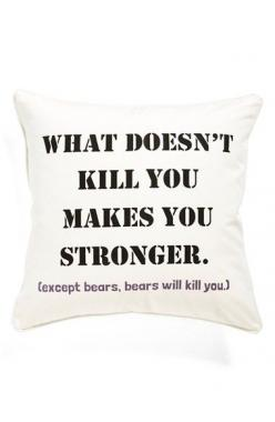 Levtex 'What Doesn't Kill You' Pillow available at #Nordstrom: Decor, Pillows, Aunt Rhonda