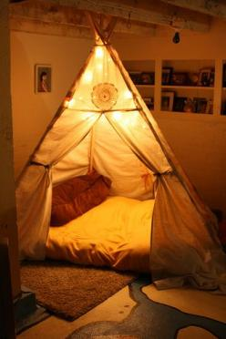 Love this for a little boy's room...maybe something we can do for Ian when he gets older.: Ideas, Dream, Kids Room, Indoor Tent, Teepees, House, Bedroom
