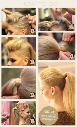 Make Your Hair Look Gorgeous By Following Our Tips And DIY Hair Tricks: Pony Tail, Ponytail, Idea, Hairstyles, Hair Styles, Makeup, Hair Tutorial, Beauty