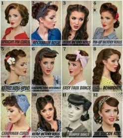 many women these days are bringin back the hairstyles of the 1940s. these hairstyles were also connected with pin up girls, so modern women want to portray this vintage type of sexuality: Hairstyles, Retro Hair, Vintage Hair, Hair Styles, Hair Tutorial, M