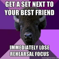 Marching Band Problems... me and my Percussion Buddy... what's worse is that Drumline is ALWAYS lined up...: Best Friends, Marching Band, Crush, Band Geek, My Best Friend, Clarinet