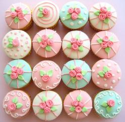 Maybe for a babyshower or christening?: Cup Cakes, Ideas, Pastel, Sweet, Recipe, Cupcakes, Food, Rose Cupcake, Cake Decorating