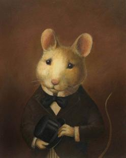 Mouse Portrait Victorian-oil painting mouse art. Buy it on Etsy from CuriousPortraits: Mice, Victorian Mouse, Lisa Zador, Illustrations, Art, Mouse Portrait Victorian Jpg, Portraits, Painting, Animal