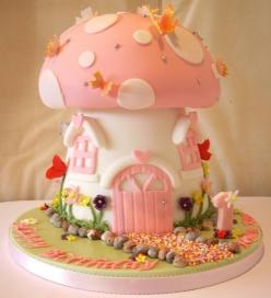 Mushroom cake oh my gosh! Could be an adorable 1 year photo for Leyla. We can dress her up as a fairy instead of a princess!: Pink Mushroom, Fairy Cake, Food, Cake Ideas, Birthdaycake, Party Ideas, Birthday Cakes, Mushrooms