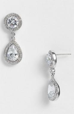 Nadri Crystal & Cubic Zirconia Drop Earrings (Nordstrom Exclusive) available at #Nordstrom: Crystals, Earrings Nordstromweddings, Drop Earrings, Zirconia Drop, Cubic Zirconia, Nadri Crystal, Accessories, Wedding Earrings, Crystal Cubic