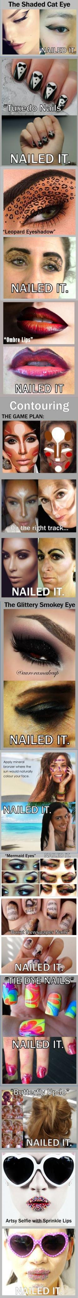 NAILED IT lol these are my attempts at re-creating Pins: Cat Eye, Funny Pinterest Fails, Makeup Fail, Nailed It Fails, Nailed It Humor Fails, Funny Fails, Pinterest Fails Nailed It, Funny Pintrest Fails, Nailed It Pinterest Fails