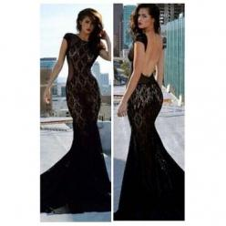 O Neck Tank Short Sleeves Backless Mesh Hollow-out Patchwork Black Polyester Mermaid Floor Length Dress on Chiq $9.99 : Buy Trends on CHIQ.COM http://www.chiq.com/o-neck-tank-short-sleeves-backless-mesh-hollow-out-patchwork-black-polyester-mermaid-floor-l