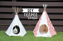 Oh, I am SO making this for Zooey!: Cover, Cat, Craft, Diy'S, Pet Teepee, Teepees, Animal